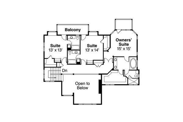 Mediterranean Floor Plan - Other Floor Plan Plan #124-1016
