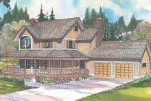 Home Plan - Traditional Exterior - Front Elevation Plan #124-404