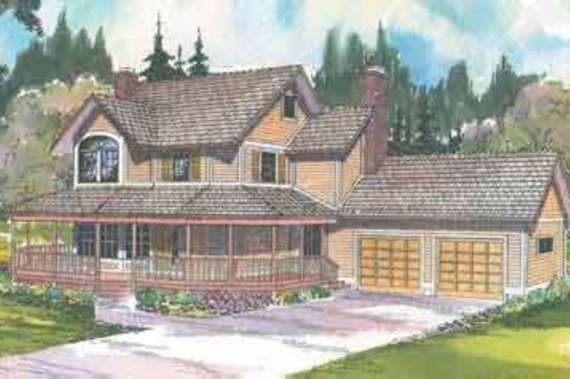 Dream House Plan - Traditional Exterior - Front Elevation Plan #124-404