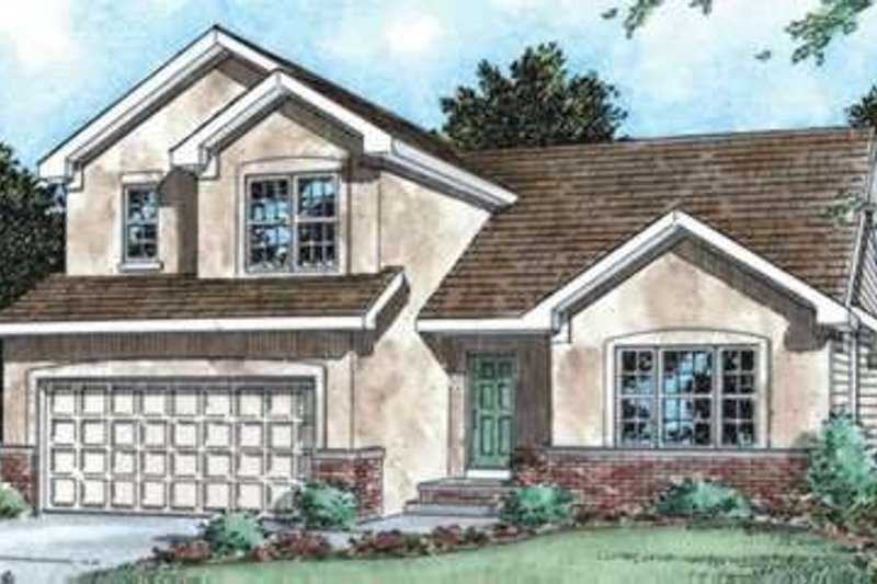 Dream House Plan - Traditional Exterior - Front Elevation Plan #20-1575