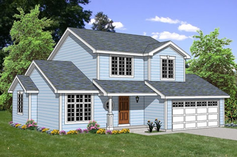 Traditional Style House Plan - 5 Beds 2.5 Baths 1510 Sq/Ft Plan #116-249 Exterior - Front Elevation
