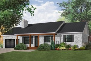 Ranch Exterior - Front Elevation Plan #23-2272