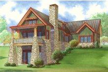 Dream House Plan - Craftsman Exterior - Rear Elevation Plan #923-23