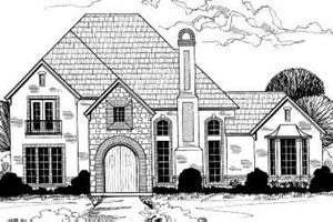 European Exterior - Front Elevation Plan #317-136