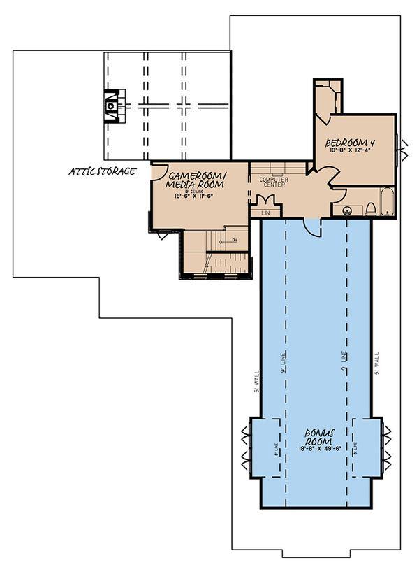 Craftsman Floor Plan - Upper Floor Plan Plan #923-171