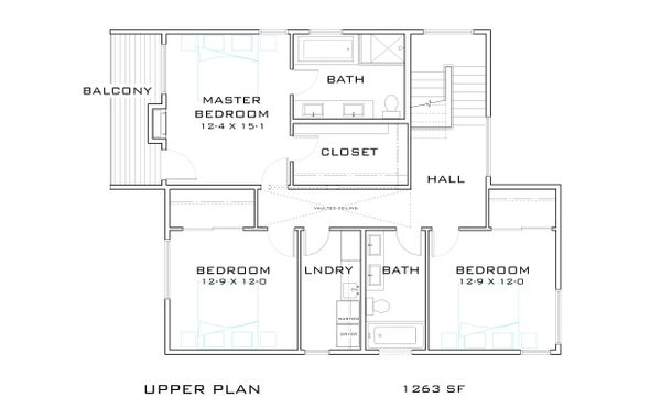 Contemporary Floor Plan - Upper Floor Plan Plan #909-9