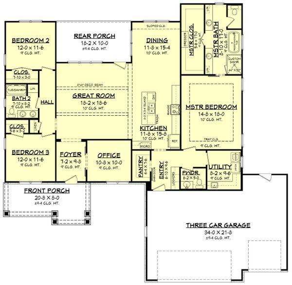 Ranch Floor Plan - Main Floor Plan Plan #430-212