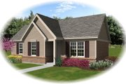 Traditional Style House Plan - 3 Beds 2 Baths 1071 Sq/Ft Plan #81-13852 Exterior - Front Elevation