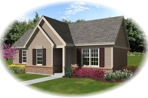Traditional Exterior - Front Elevation Plan #81-13852