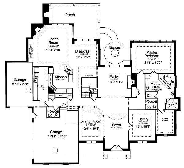 Traditional Floor Plan - Main Floor Plan Plan #46-398