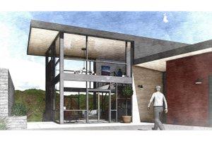 Modern Exterior - Front Elevation Plan #498-2