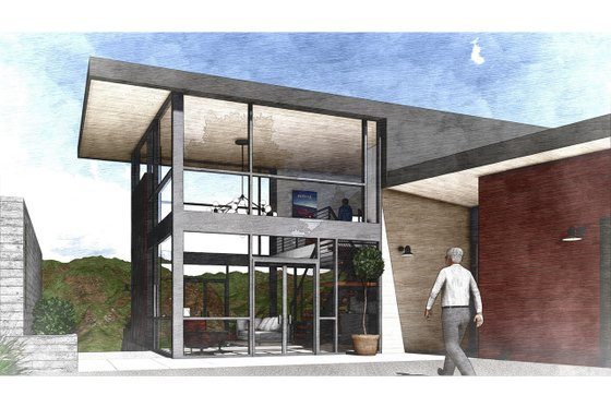 Modern Exterior - Front Elevation Plan #498-2