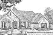 European Style House Plan - 3 Beds 3.5 Baths 2643 Sq/Ft Plan #310-380 Exterior - Front Elevation