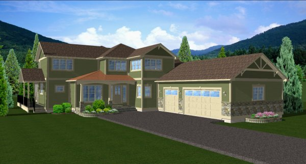 Traditional Exterior - Front Elevation Plan #126-156