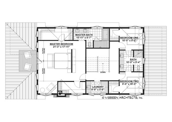 Cottage Floor Plan - Upper Floor Plan #928-354