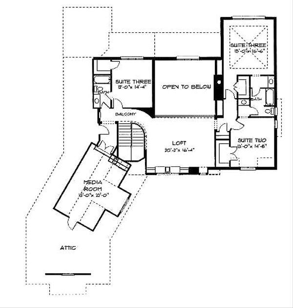 European Floor Plan - Upper Floor Plan Plan #413-110