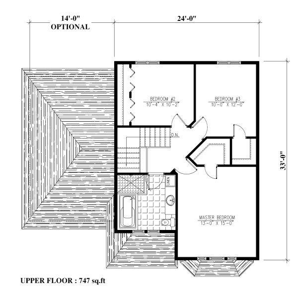 Victorian Floor Plan - Upper Floor Plan Plan #138-351