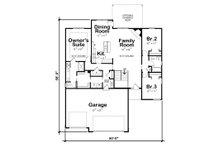 Ranch Floor Plan - Main Floor Plan Plan #20-2322