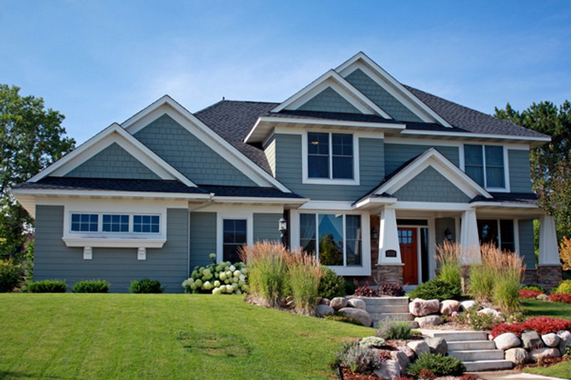 Craftsman Style House Plan - 3 Beds 2.5 Baths 2748 Sq/Ft Plan #51-424 Exterior - Front Elevation