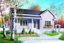 Home Plan - Cottage Exterior - Front Elevation Plan #23-102