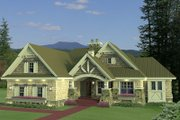 Craftsman Style House Plan - 3 Beds 2.5 Baths 1971 Sq/Ft Plan #51-552 Exterior - Front Elevation
