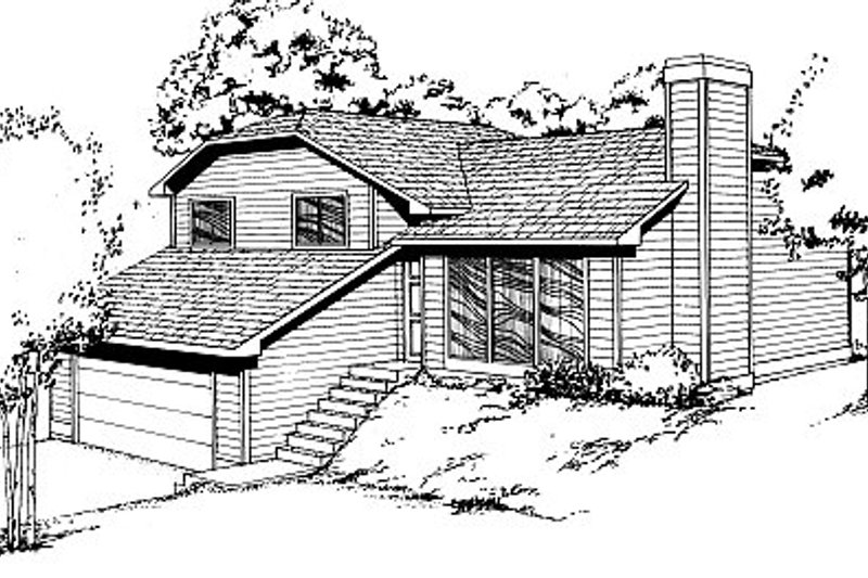 Traditional Style House Plan - 3 Beds 2.5 Baths 1112 Sq/Ft Plan #87-404 Exterior - Front Elevation