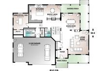 Country Floor Plan - Main Floor Plan Plan #23-406
