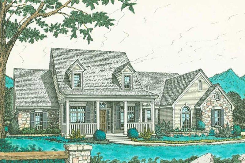 Farmhouse Exterior - Front Elevation Plan #310-193 - Houseplans.com