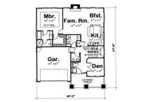 Craftsman Floor Plan - Main Floor Plan Plan #20-2236