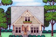 Craftsman Style House Plan - 4 Beds 3.5 Baths 2258 Sq/Ft Plan #413-872 Exterior - Front Elevation
