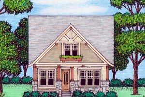 Craftsman Exterior - Front Elevation Plan #413-872