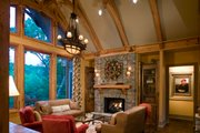 Craftsman Style House Plan - 3 Beds 3 Baths 3642 Sq/Ft Plan #54-391 Interior - Family Room