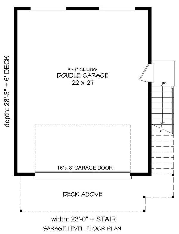 Modern Floor Plan - Lower Floor Plan Plan #932-40