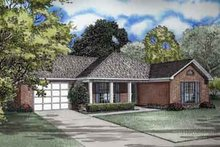 House Design - Ranch Exterior - Front Elevation Plan #17-2081