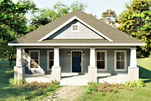 Dream House Plan - Craftsman Exterior - Front Elevation Plan #44-232