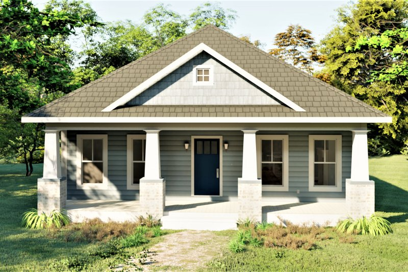 House Plan Design - Craftsman Exterior - Front Elevation Plan #44-232