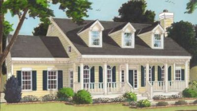 Southern Exterior - Front Elevation Plan #3-193