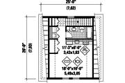 Farmhouse Style House Plan - 0 Beds 1 Baths 468 Sq/Ft Plan #25-4752 Floor Plan - Upper Floor Plan
