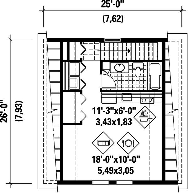 Farmhouse Floor Plan - Upper Floor Plan Plan #25-4752
