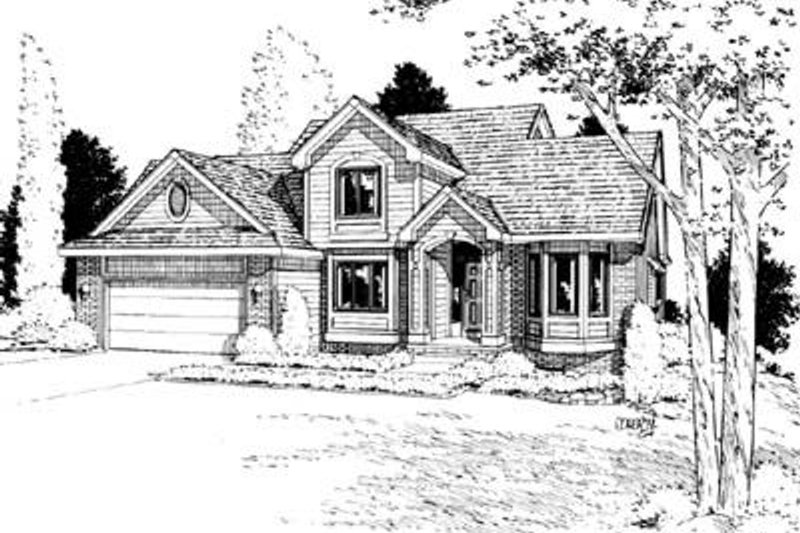 Traditional Exterior - Front Elevation Plan #20-812 - Houseplans.com