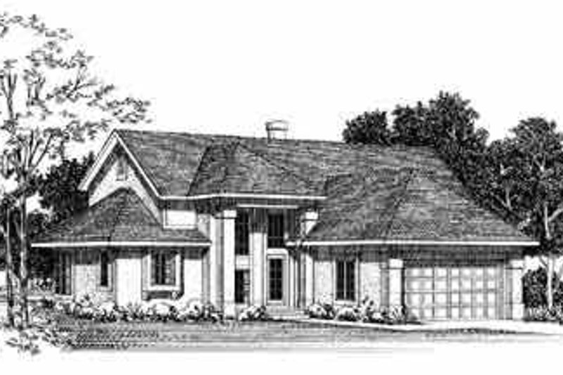 Traditional Exterior - Front Elevation Plan #72-378 - Houseplans.com