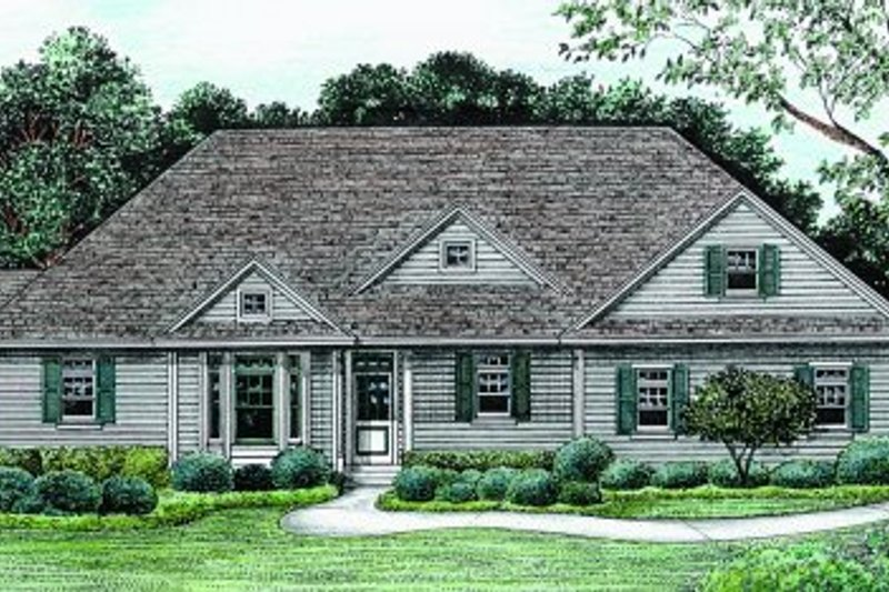 Architectural House Design - Traditional Exterior - Front Elevation Plan #20-165