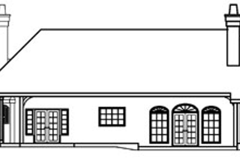 Ranch Exterior - Rear Elevation Plan #124-372 - Houseplans.com