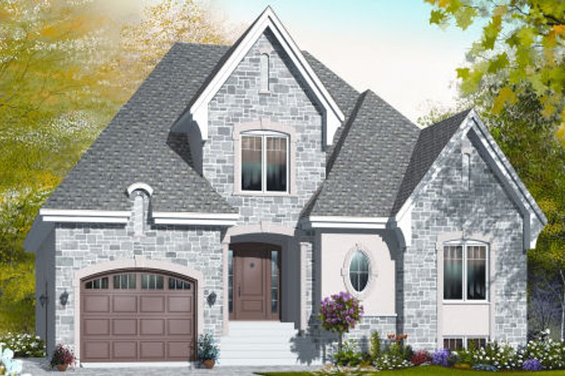 European Exterior - Front Elevation Plan #23-2244 - Houseplans.com