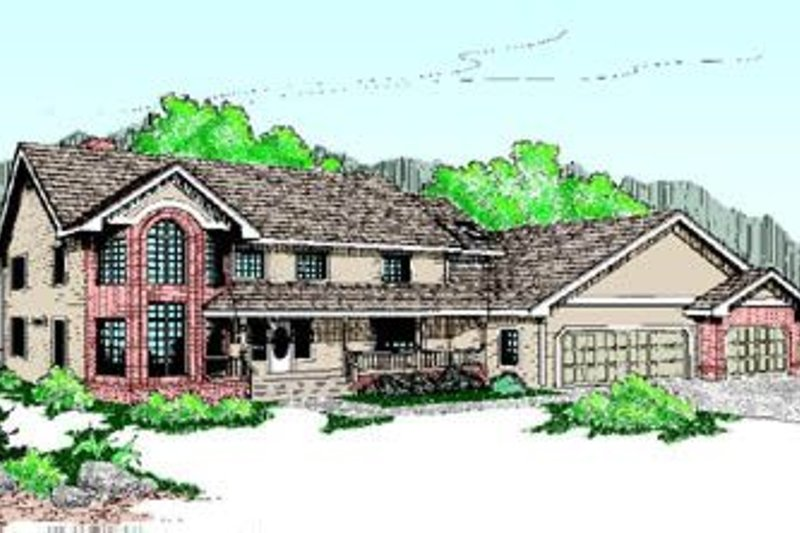 Traditional Exterior - Front Elevation Plan #60-203 - Houseplans.com