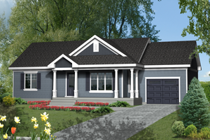 Country Exterior - Front Elevation Plan #25-4461