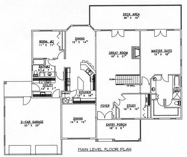Modern Floor Plan - Main Floor Plan Plan #117-531