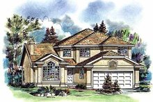 Home Plan - European Exterior - Front Elevation Plan #18-255