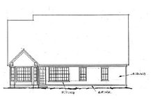 Home Plan - Traditional Exterior - Rear Elevation Plan #20-232