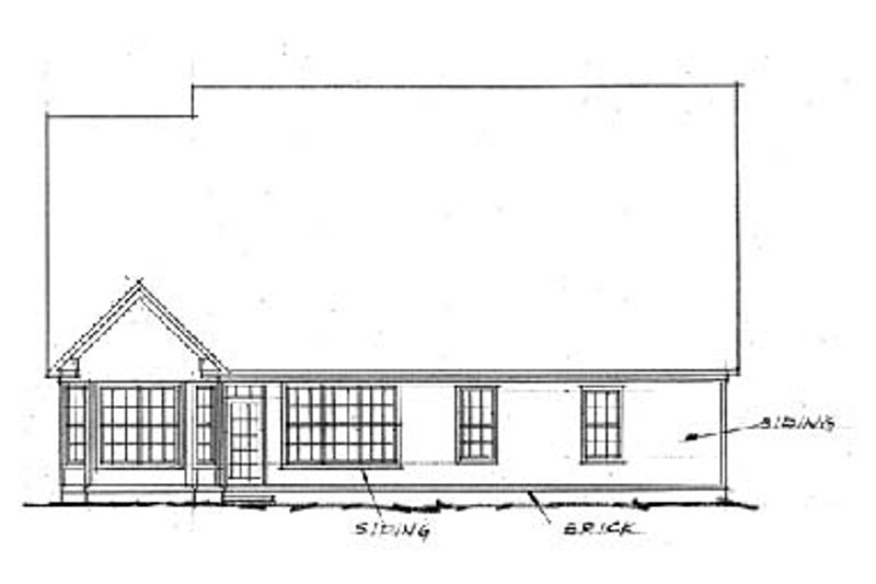 Traditional Exterior - Rear Elevation Plan #20-232 - Houseplans.com